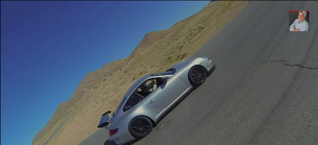 Porsche 911 GT3 RS at Willow Springs race track