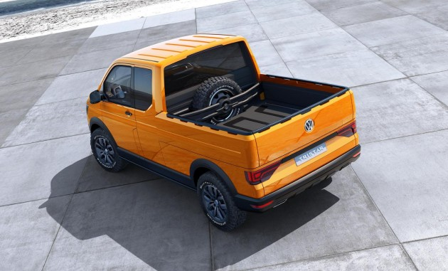 The Volkswagen Tristar Truck Concept's pickup bed