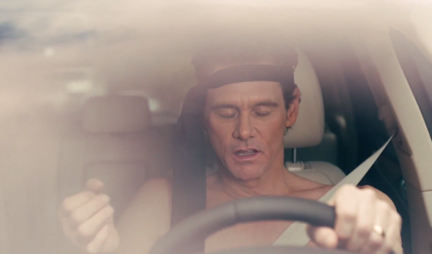 Jim Carrey parodies McConaughey Lincoln ads