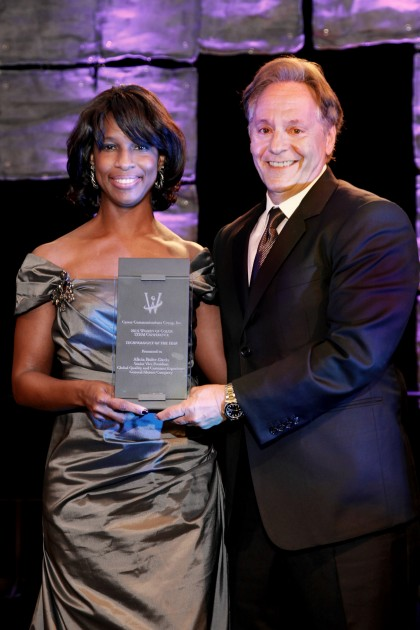 Alicia Boler-Davis, the 2014 Technologist of the Year, pictured with John Quattrone, GM senior vice president of Global Human Resources