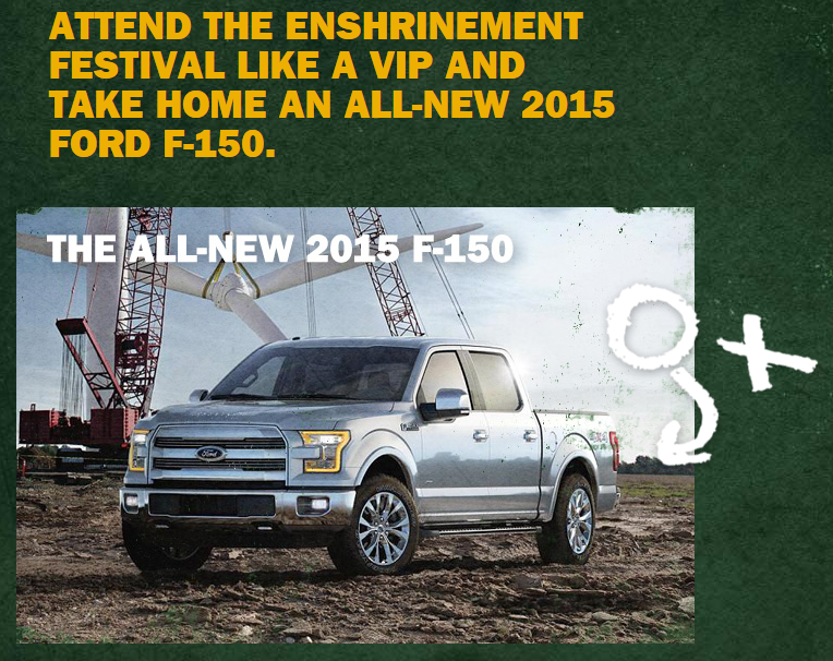 Ford pro football hall of fame sweepstakes and contests