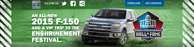 Built Ford Tough Pro Football Hall of Fame Sweepstakes.