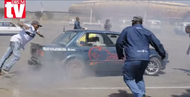 Car spinning footage tv show south african