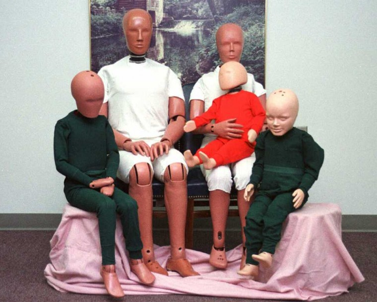 Fat Crash Test Dummies average american family