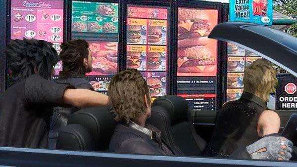 Final Fantasy XV Car memes drive thru