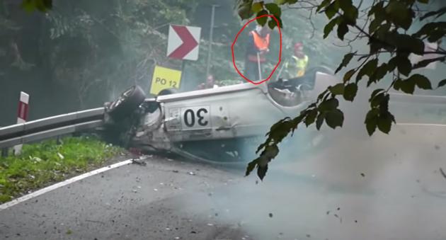 Lancer EVO crash