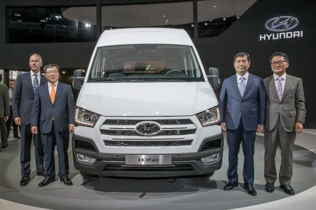 Hyundai at the Paris Motor Show Hannover Motor Show 140924 H350 bus van - Copy