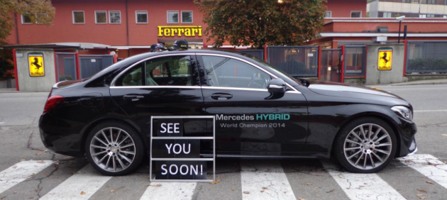 Mercedes Trolls Ferrari