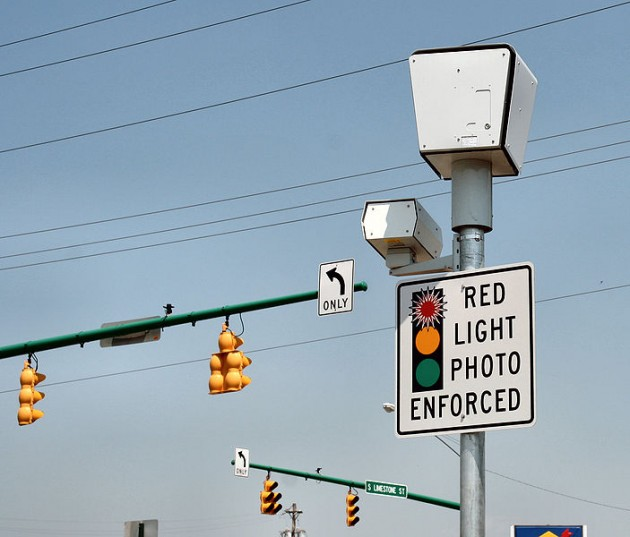 Red light cameras are on the decline