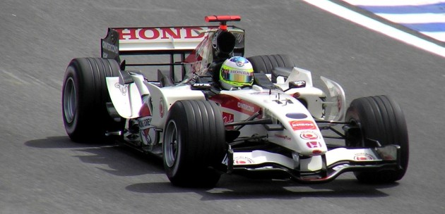 Rubens Barrichello driving for Honda at the 2006 Brazilian Grand Prix