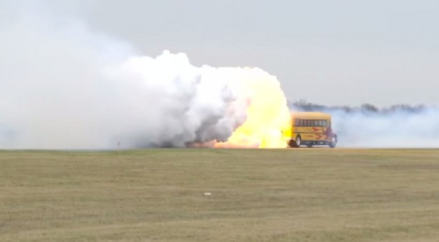 Check out this jet-powered school bus.
