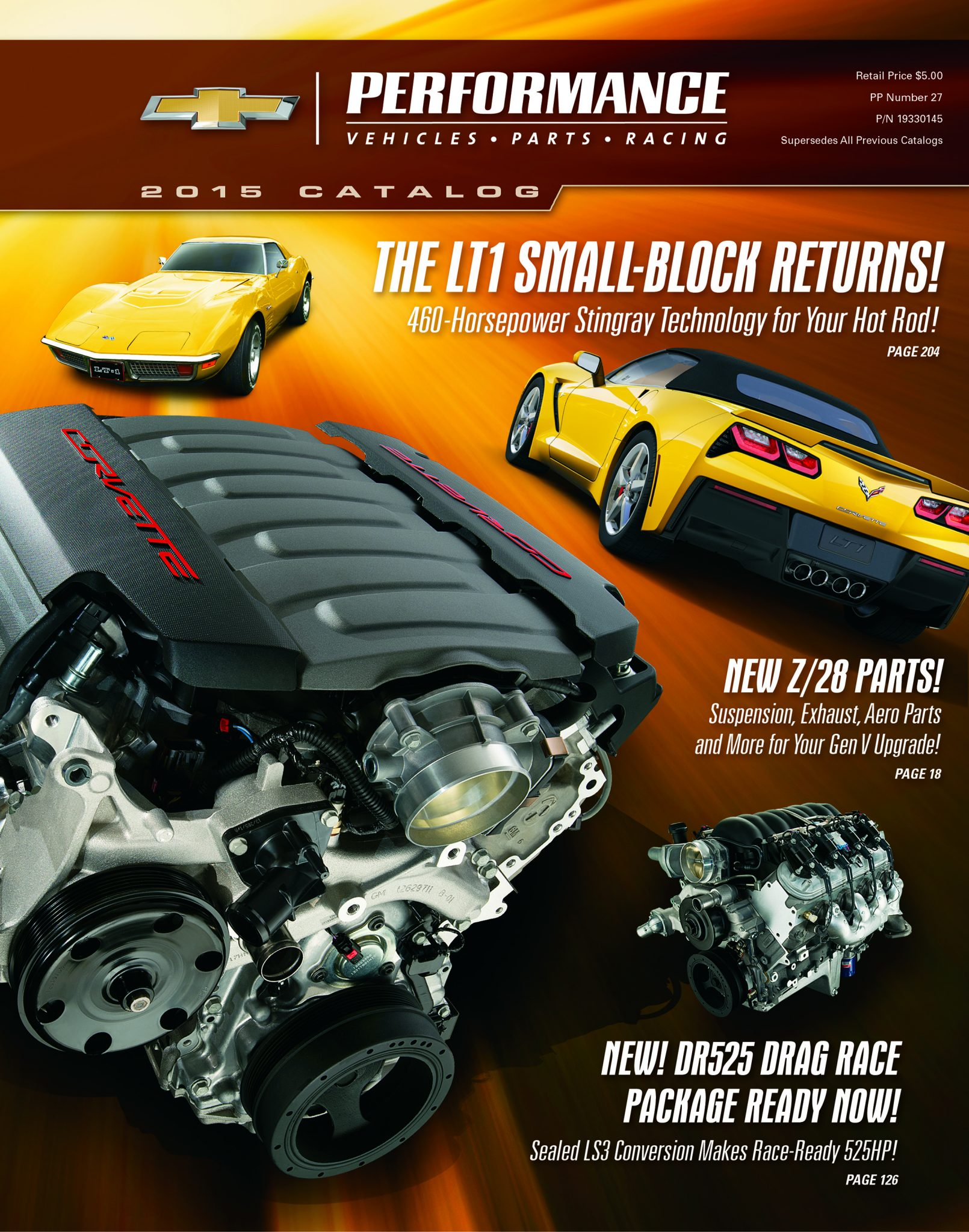 1969 Corvette Stingray >> Chevy Releases the 2015 Chevrolet Performance Catalog ...