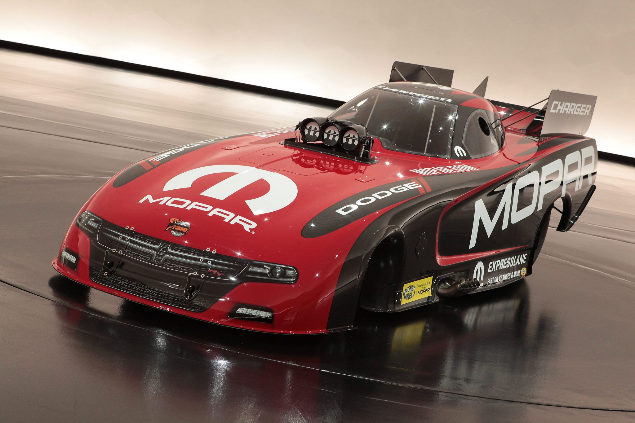 2015 Mopar Dodge Charger R T Funny Car Is Unveiled The News Wheel