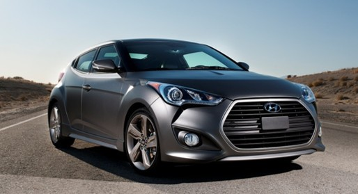 2015 Veloster Turbo grey exterior fastest hyundai vehicles