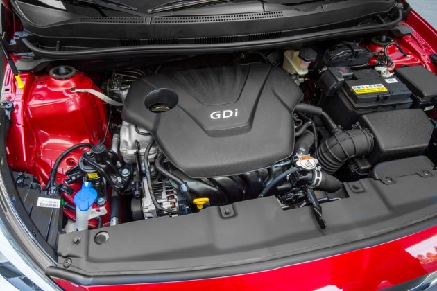 2015 Hyundai Accent Overview engine hood
