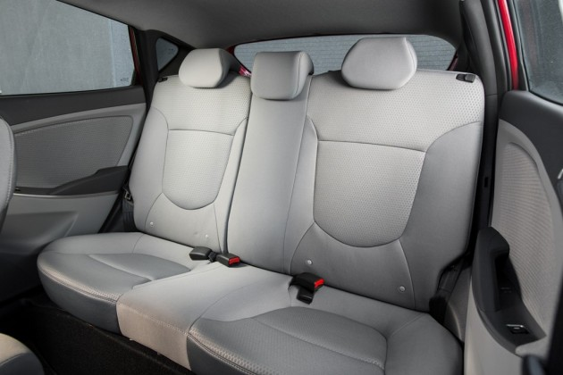 2015 Hyundai Accent Overview seats back grey interior