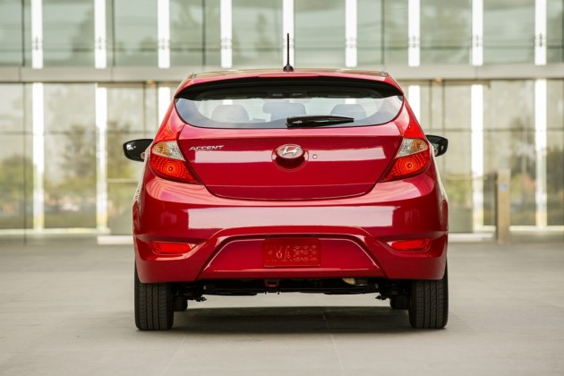 2015 Hyundai Accent Overview Red rear exterior
