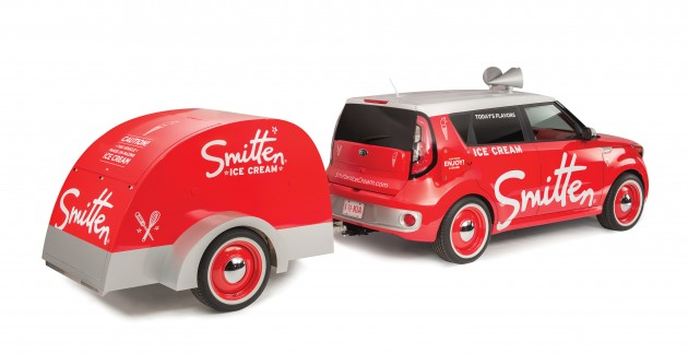 Kia at SEMA: the Smitten Ice Cream Soul EV