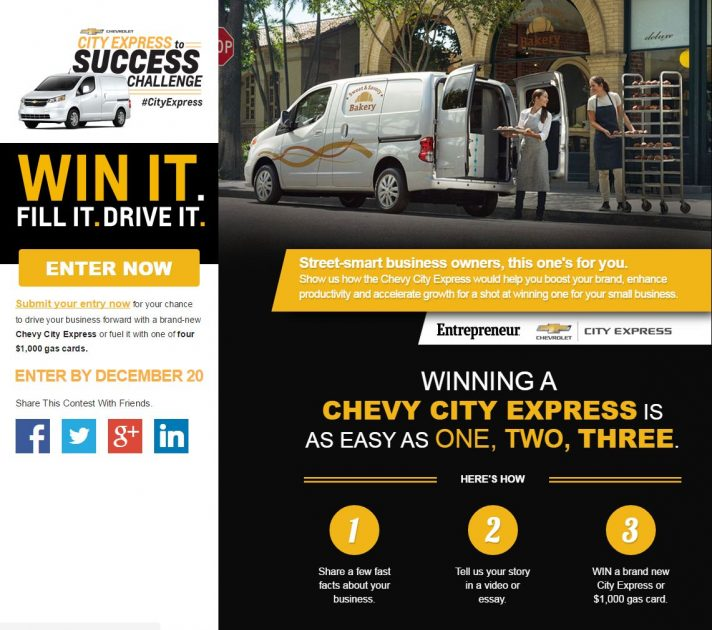 Chevrolet City Express to Success Challenge