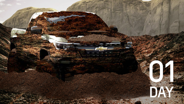 off-road Chevy Colorado teaser