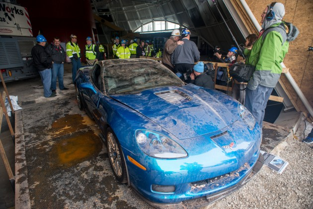"The ""Blue Devil"" is the first restored sinkhole Corvette."