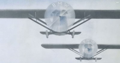 History of the BMW Logo Originate plane magazine cover