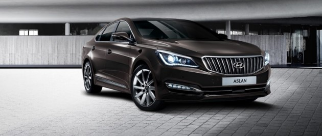 Hyundai Aslan Availability Launch in Korea black exterior front