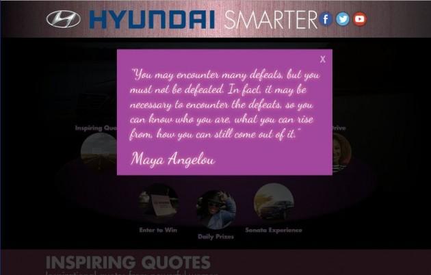 Hyundai Smarter Wesbite screenshot 1 Maya Angelou