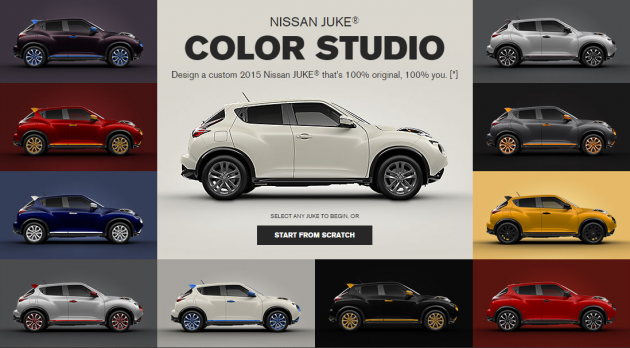 JUKE Color Studio | 2015 Nissan JUKE