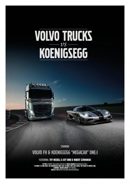 Volvo FH truck vs Koenigsegg One:1