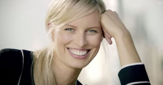 Model Karolina Kurkova promotes BMW video 2