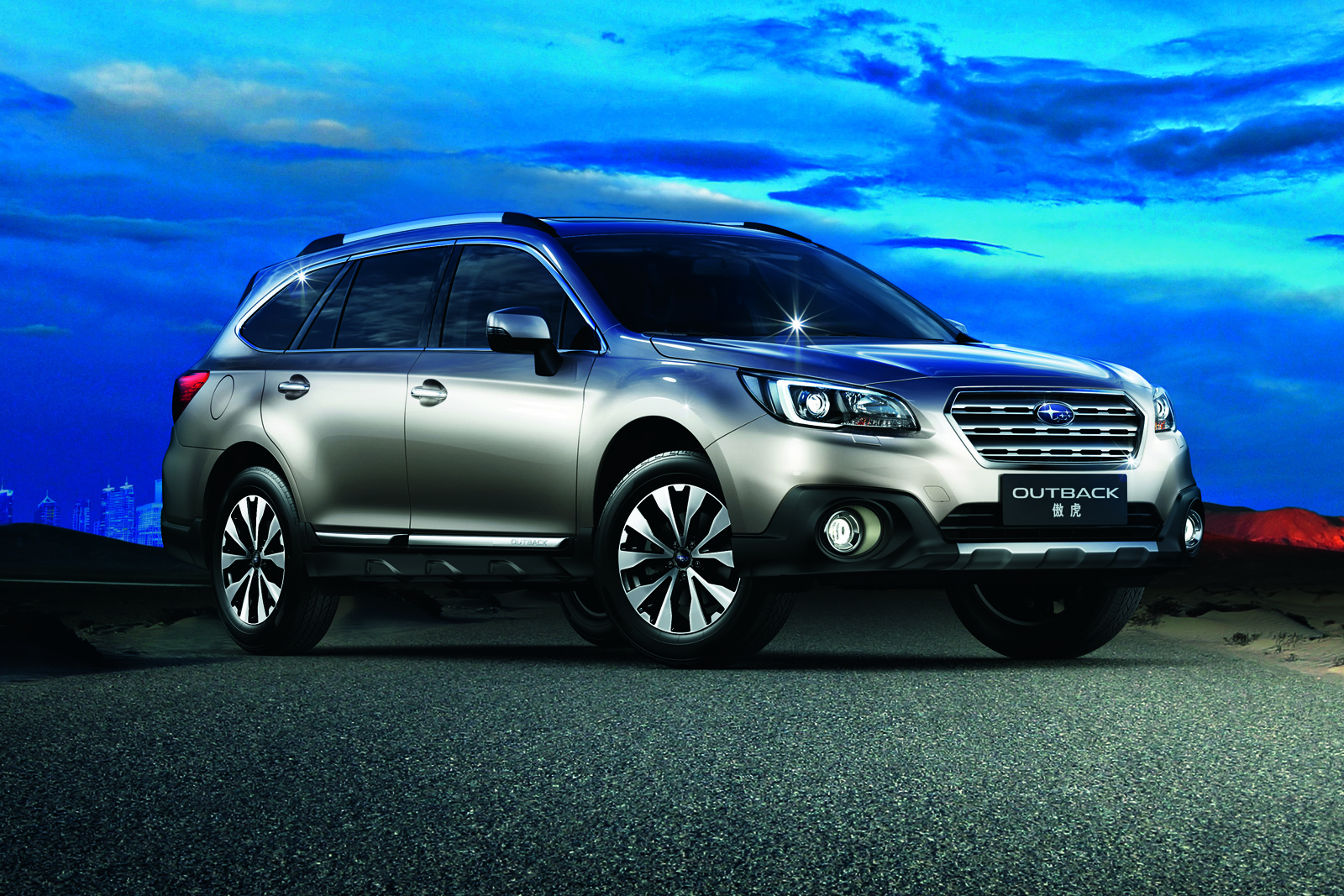 Subaru Outback With Turbocharged Boxer Engine Launching In
