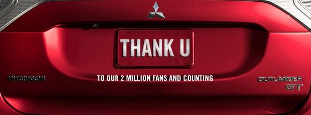 Mitsubishi Facebook Page Has 2 Million Likes
