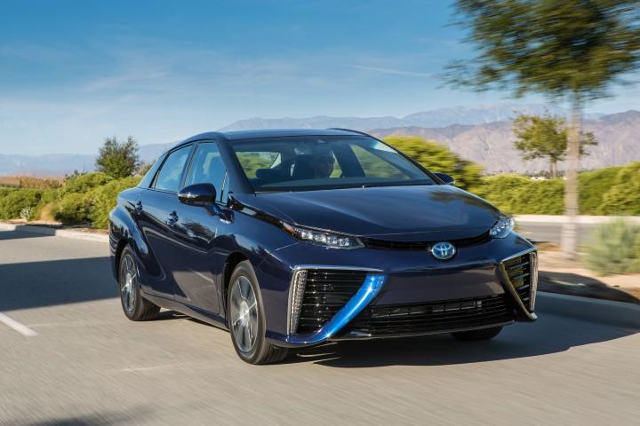 Toyota Mirai fuel-cell car crash safety
