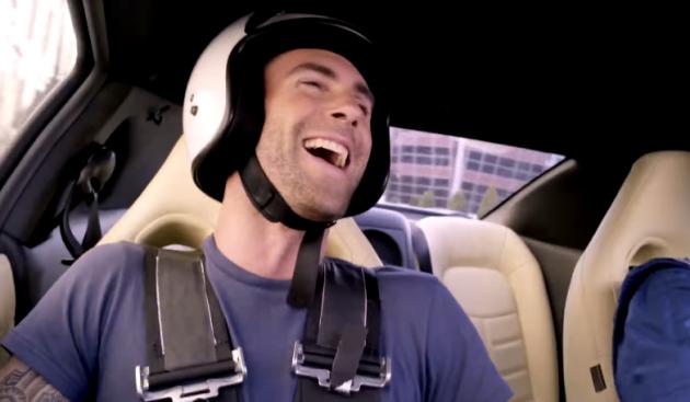 Adam Levine sang in a GT-R