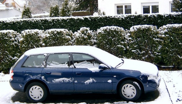 Winterizing Your Car blue driveway trees