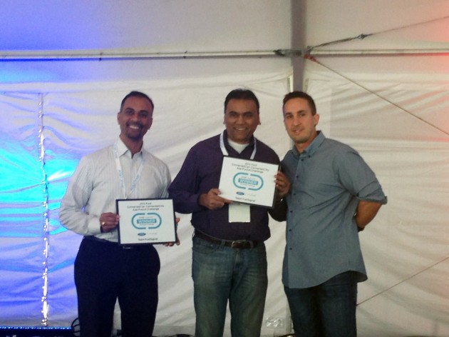 Team FuelSignal won the inaugural Connected Car-Connected City App Pursuit hackathon at this year's Los Angeles Auto Show