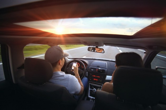 Right Cars for Empty Nesters Couple driving sunshine road