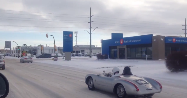 The Stig and Darth Vader Drive a Porsche 550 Spyder in Saskatoon, Saskatchewan