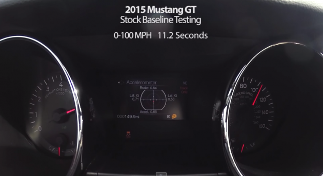 2015 Mustang GT 0-150 MPH Time