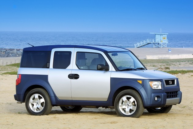 The 2003 Honda Element, one of the vehicles affected in the Honda airbag recall