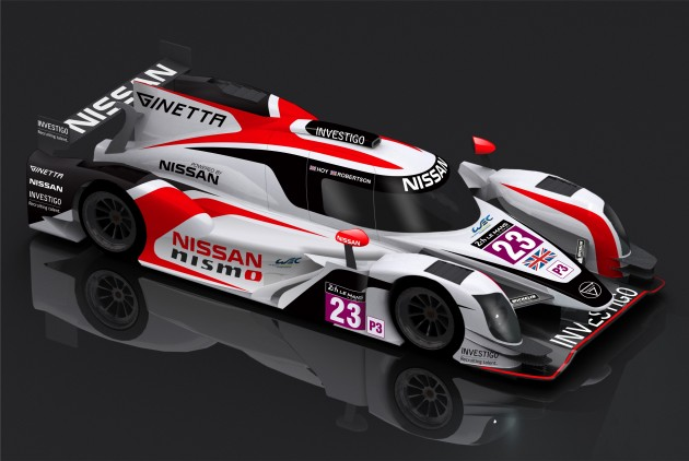 The Ginetta Nissan LM P3 car that Sir Chris Hoy will race in 2015