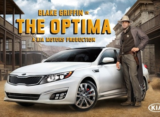 western themed blake griffin kia commercial promotes. Black Bedroom Furniture Sets. Home Design Ideas