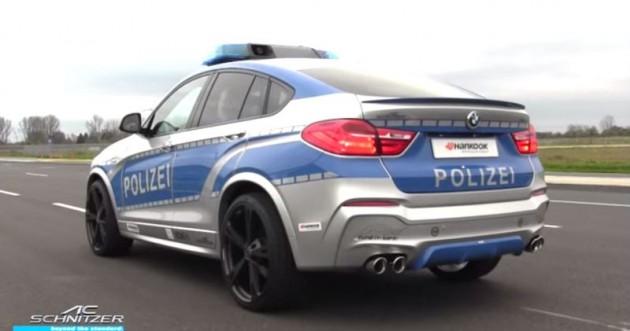 BMW X4 Police Car 3