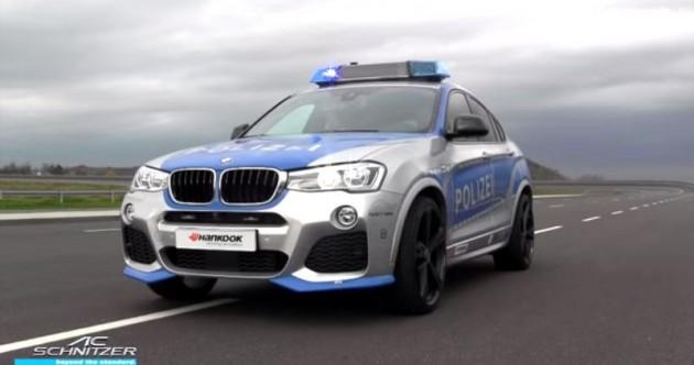 BMW X4 Police Car