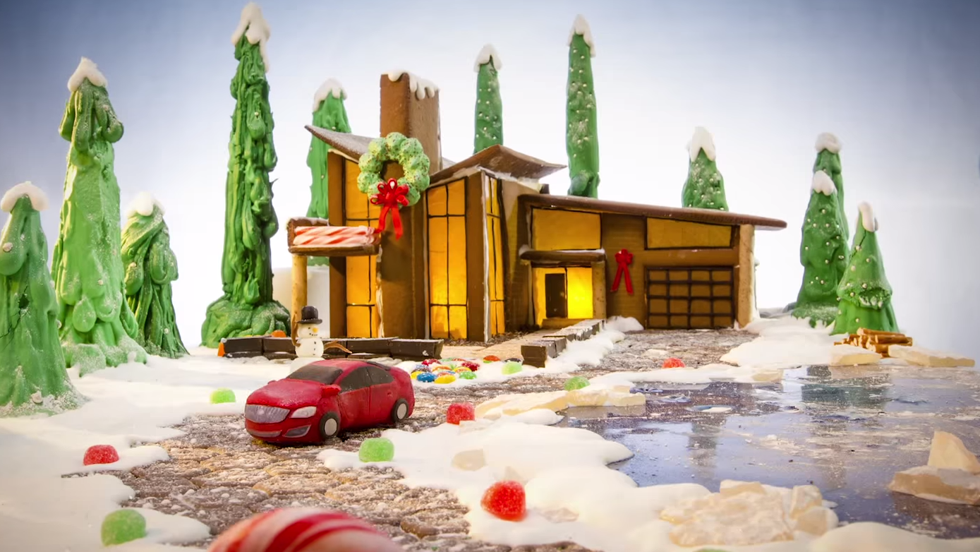 Buick Gingerbread House Video Wishes You Happy Holidays The News - Gingerbread house garage