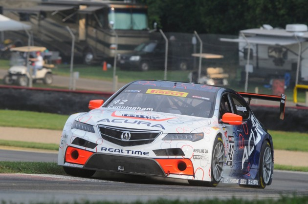 The Acura TLX GT race car, which will be driven next year by Ryan Eversley