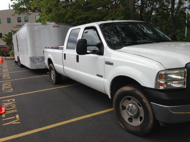 gaming trailer with Ford F-250