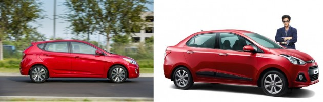 Hyundai Accent and Xcent Red
