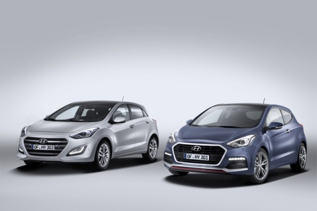 Hyundai i30 Turbo two colors